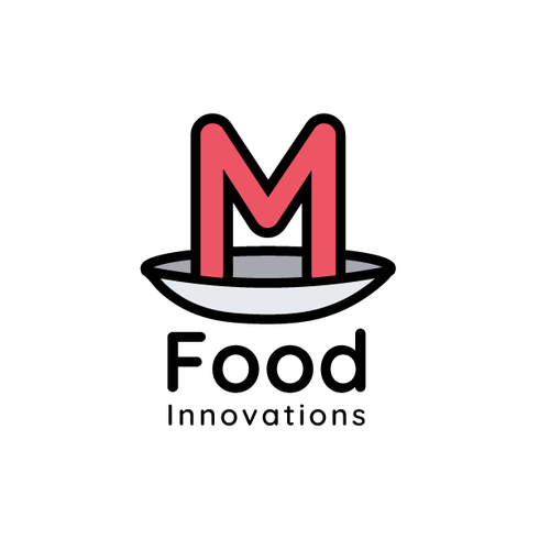 Dish design with the title 'M Food Innovations'