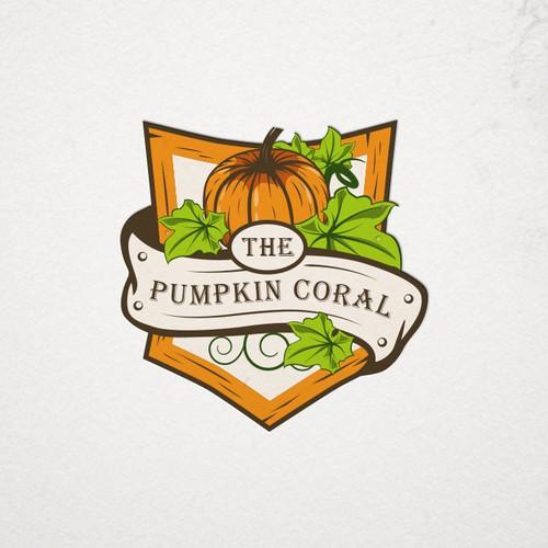 Halloween logo with the title 'Pumpkin'