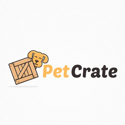 Cat, dog, and horse logo with the title 'PetCrate'