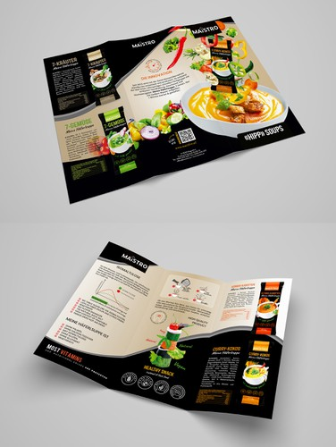 Cafe design with the title 'Brochure design'