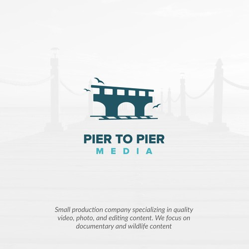 Video logo with the title 'Pier to Pier Movies'