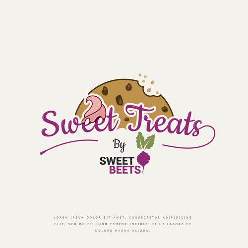 Ice cream logo with the title 'Sweet Treats by Sweet Beets'