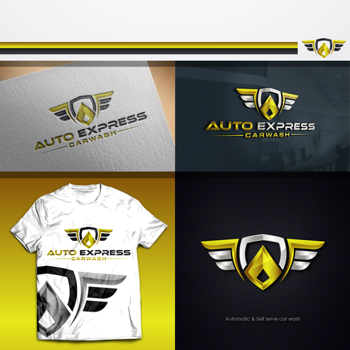 Express design with the title 'Auto Express car wash'