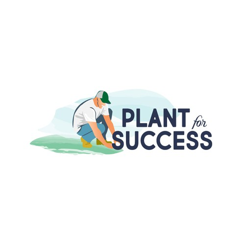 Gardening logo with the title 'plant for success'