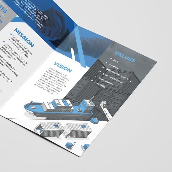 Worldwide design with the title 'Kairos Brochure Design'