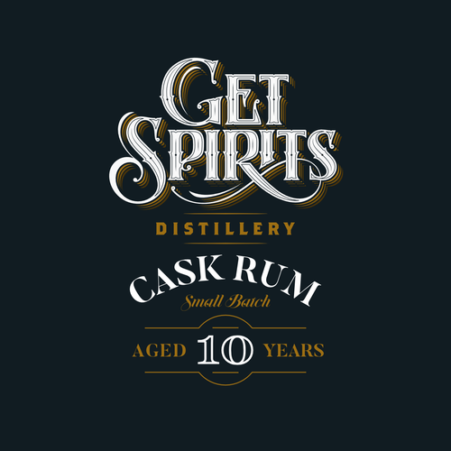 Lettering brand with the title 'Get Spirits'