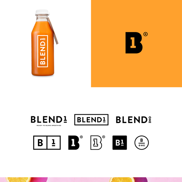Smoothie logo with the title 'Blend1 Concepts '