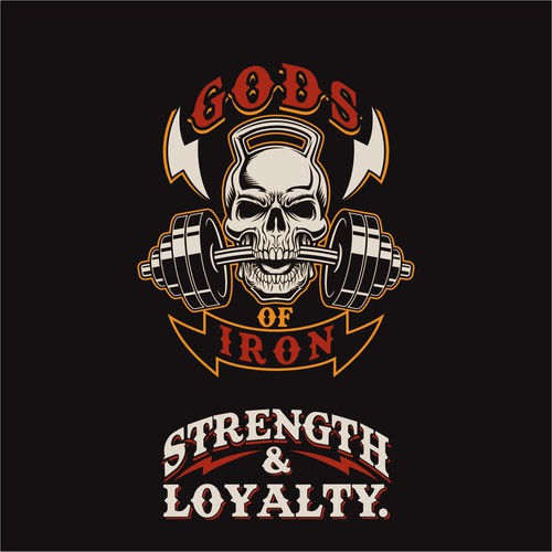 Thunderbolt design with the title 'T-shirt design for Gym With Heavy Metal Theme'