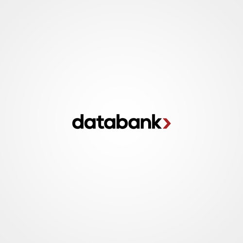 Cloud computing design with the title 'Databank Logo Concept'