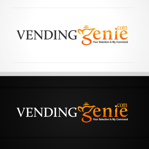 Lamp logo with the title 'Create the next logo for VendingGenie.com'