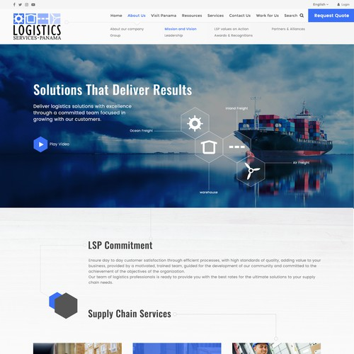 Cargo design with the title 'Logistics Panama'