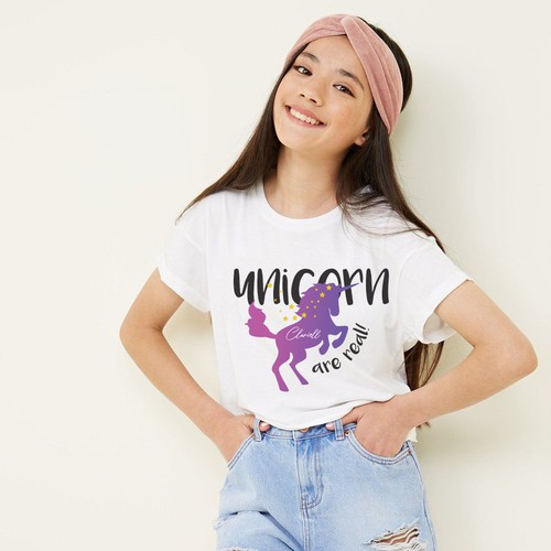 Girls' t-shirt with the title 'T-shrts design'