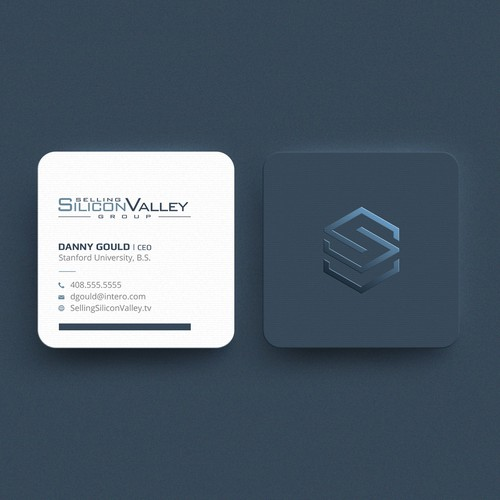 Spot UV design with the title 'Luxury Real Estate Company Business Card'