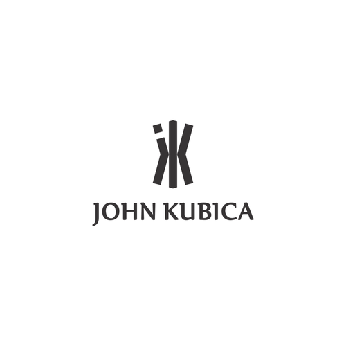 Name logo with the title 'Bold Logo Concept for John Kubica'
