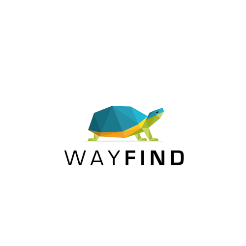 Origami logo with the title 'WAY FIND Logo'