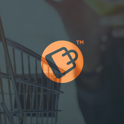 Shopping bag logo with the title 'Logo concept for an online shopping platform'