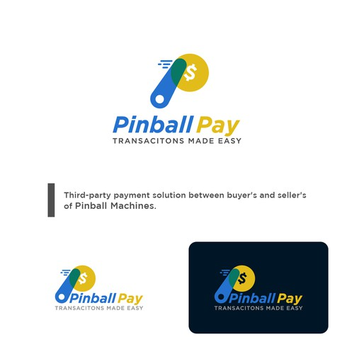 Pinball design with the title 'Fun logo for digital payment'