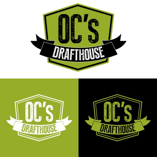 Green and black design with the title 'O.C's Drafthouse'