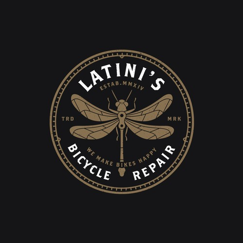 Countryside logo with the title 'Latini's Bicycle Repair'