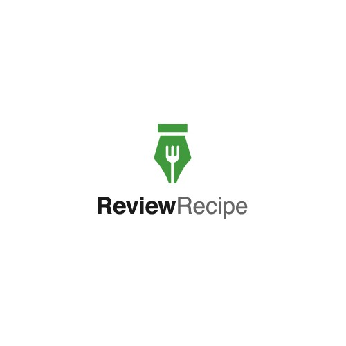 Recipe design with the title 'Review Recipe Logo'