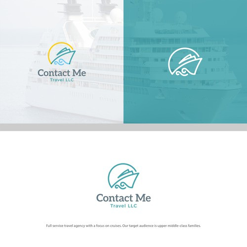 Cruise design with the title 'Logo concept for Contact Me'
