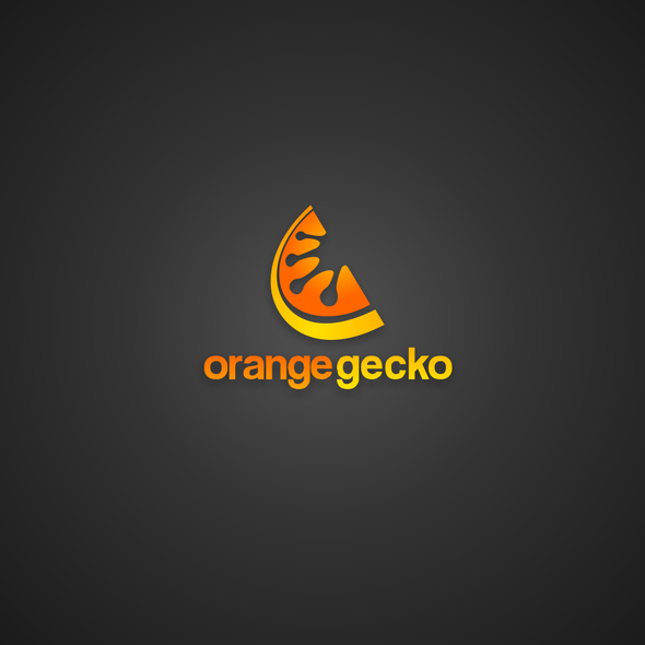 Gecko logo with the title 'Creative logo for Orange Gecko [IT Consultancy]'