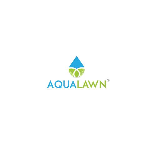 Flood logo with the title 'AquaLawn Logo'