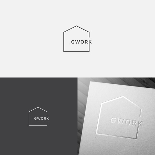 French cafe logo with the title 'GWORK'