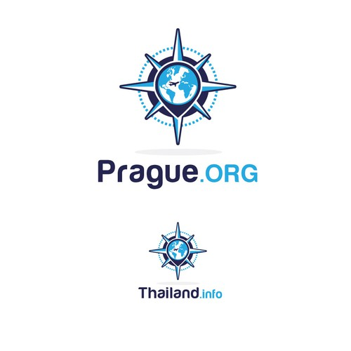 World map design with the title 'Prague org'