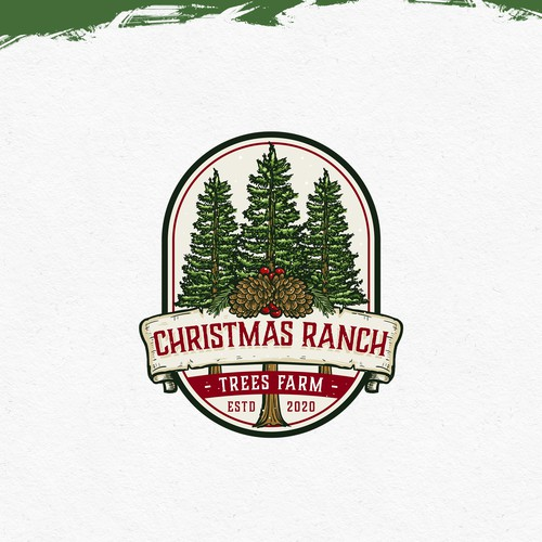 Christmas tree logo with the title 'Christmas Ranch Tree Farms'