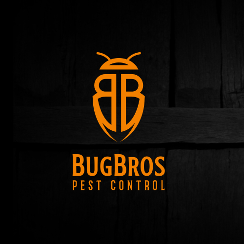 Pest control logo with the title 'BugBros'
