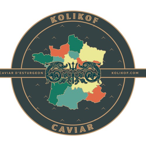 Caviar logo with the title 'Luxurious caviar label '