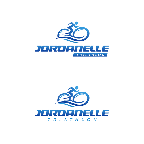 Triathlon design with the title 'Update logo for Jordanelle triathlon'