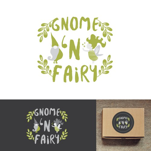 Gnome logo with the title 'Elegant Fairy Gnome Logo for Gourmet Candy Company'