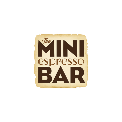 Espresso design with the title 'The Mini Espresso Bar'