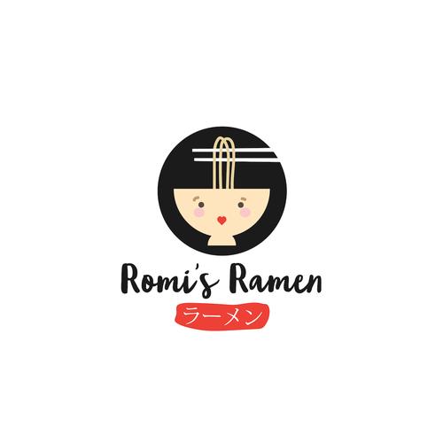 Ramen logo with the title 'Fun logo for Ramen Restaurant'