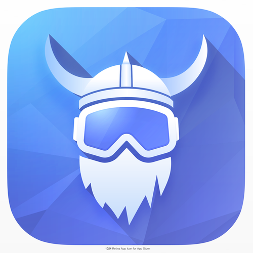 Snow design with the title ' icon for Freestyle Snowboard/Skiing app'