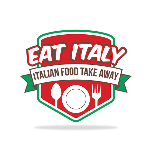 Takeaway logo with the title 'Logo design for an Italian take away restaurant'