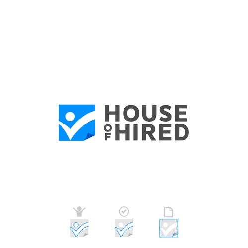 Hire logo with the title 'House of Hired Logo'
