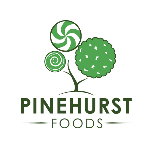 Childhood logo with the title 'pinehurst foods'
