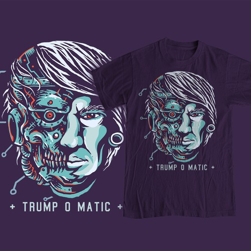 Robot t-shirt with the title 'Trump o Matic'