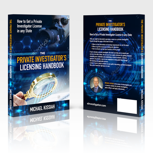 Detective book cover with the title 'The Private Investigator's Licensing Handbook'