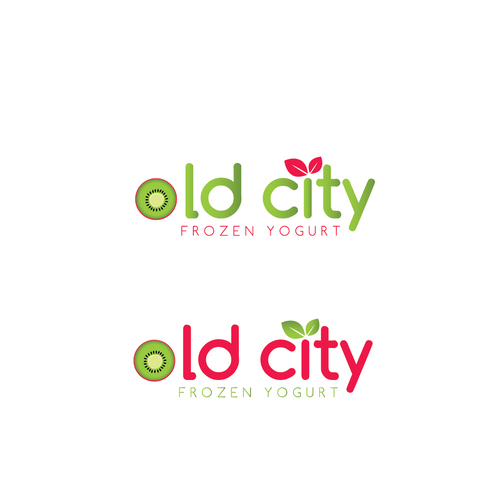 Yogurt design with the title 'New logo wanted for Old City Frozen Yogurt '
