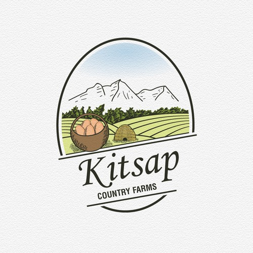 Family business logo with the title 'Eye catching and pleasing design for family run organic farm'