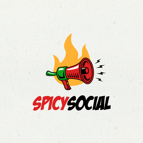 Spicy logo with the title 'Spicy Social Logo'