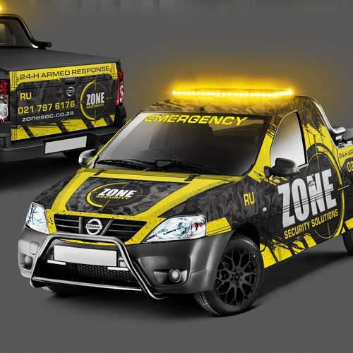 Camouflage design with the title 'Badass Wrap for a Security Company'