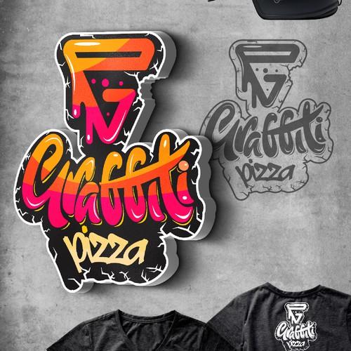 Pizza brand with the title 'Graffiti Pizza'