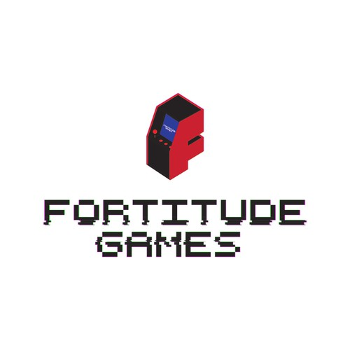 Distorted logo with the title 'Retro Logo for a game company.'
