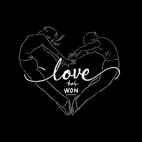 Love t-shirt with the title 'LOVE HAS WON'
