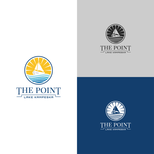 Sailboat design with the title 'Logo for THE POINT '